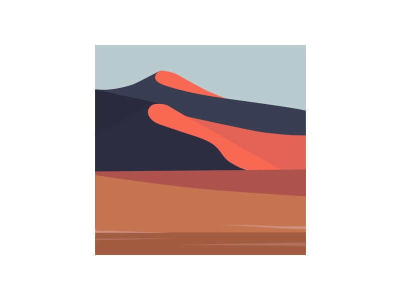 Namibia Desert | Illustration series