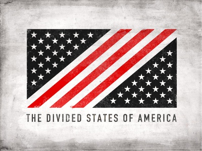 Divided States Of America resist flag divided