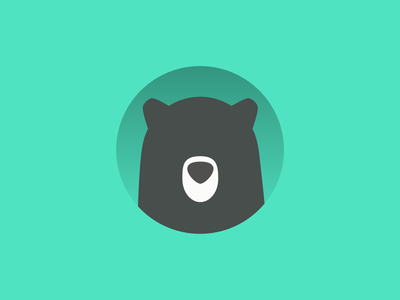 Beary Bearington animal flat simple logo bear