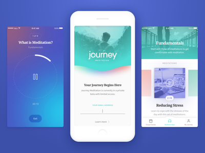 Journey iOS app WIP audio login clean app ios