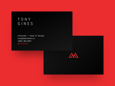 Masthead Business Cards cards business