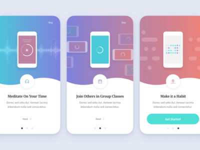 Onboarding Screens app ios onboarding