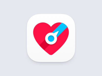 AED Finder Icon Concept heart logo ios icon