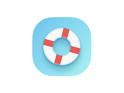 Lifeline icon life saver buoy icon