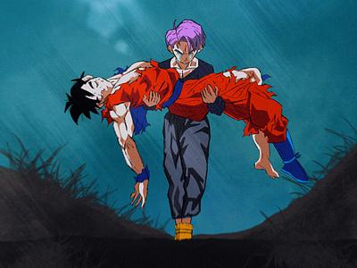 Futur Gohan's Death dragonball fanart manga art draw procreate illustration