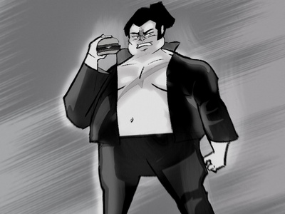 F U R Y Ö black  white black character design furyo character manga procreate illustration draw art