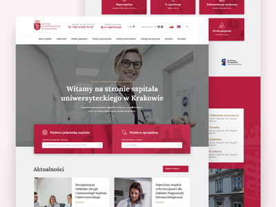 The University Hospital in Cracow webdesign website design web