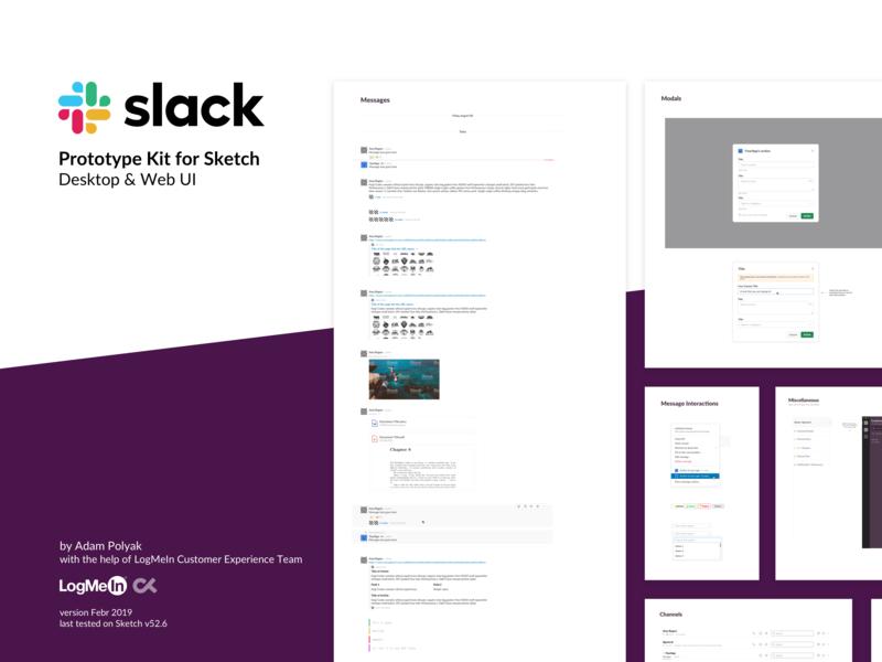 Slack Prototype Kit for Sketch symbol sketch app sketch 3 desktop application web desktop prototype library sketch slack
