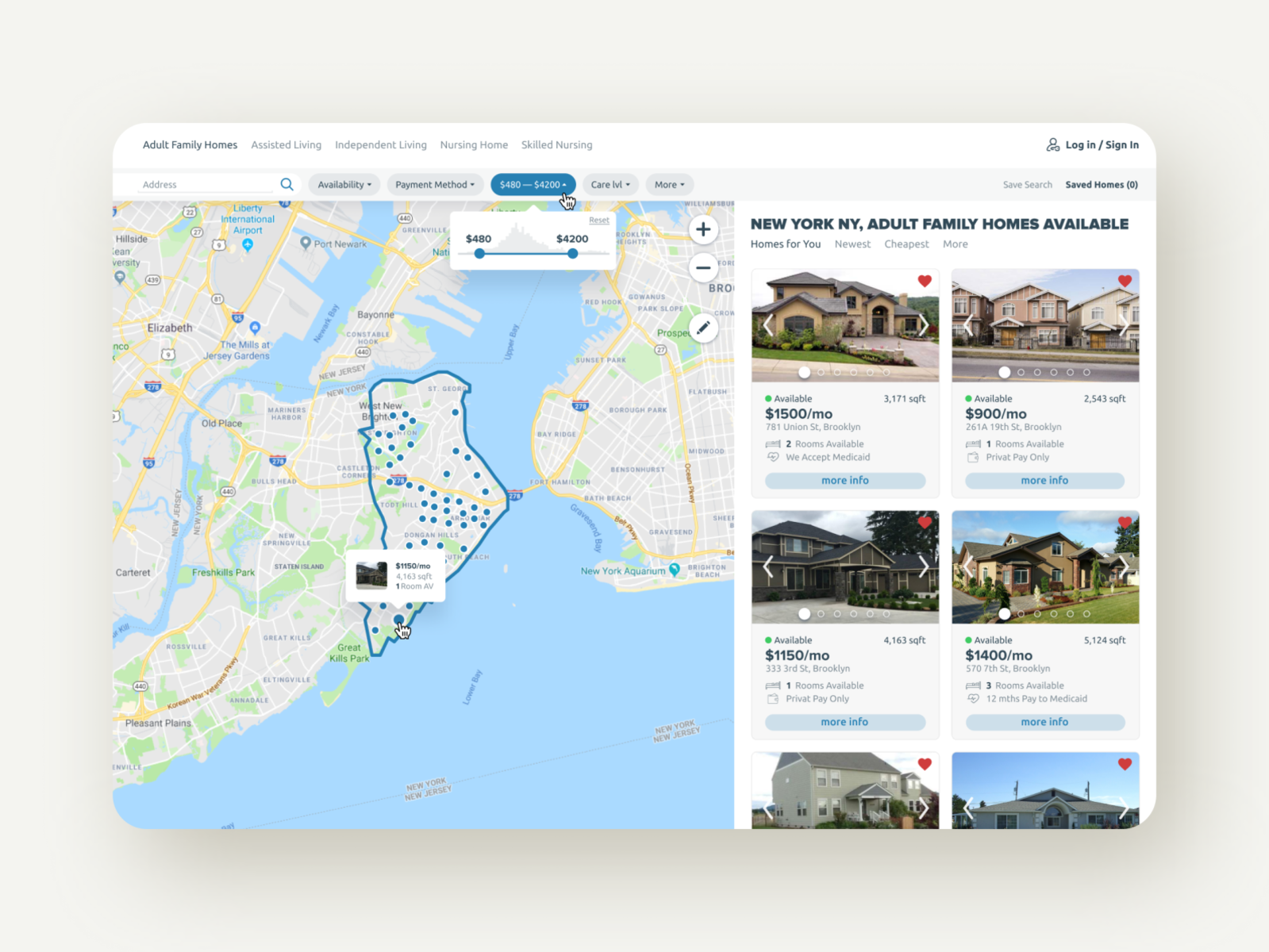 Nursing Home Web Design Concept By Peter Dubrivnyi On Dribbble
