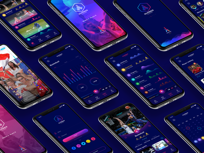 Olympics Waves-- App de Data Visuelles branding ui dataviz