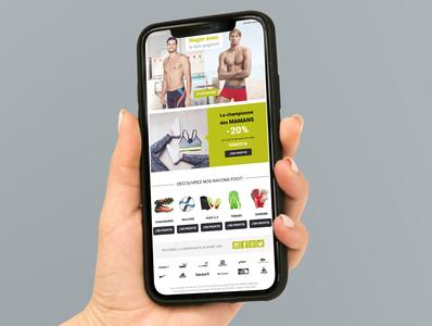 Newsletter-GO Sport mockup web ux ui design ui