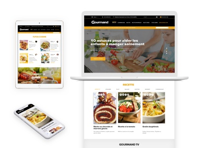 Gourmand: Food website Redesign food restaurant responsive branding ui ux ui design