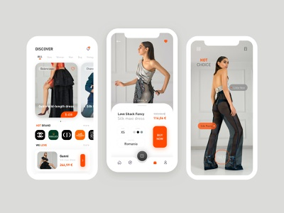 Fashion Lux app application b2c ecommerce luxury mobile brand app ux design ui design ux ui