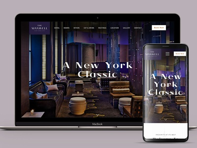 The Maxwell nyc new york city travel tripper ui ux web design homepage hotel
