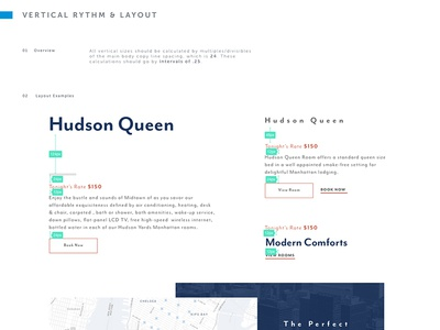 36 Hudson Style Guide web style guide hotel vertical rhythm responsive web style guide