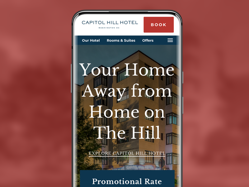 Capitol Hill Hotel hotel booking ux ui mobile-first responsive web design website