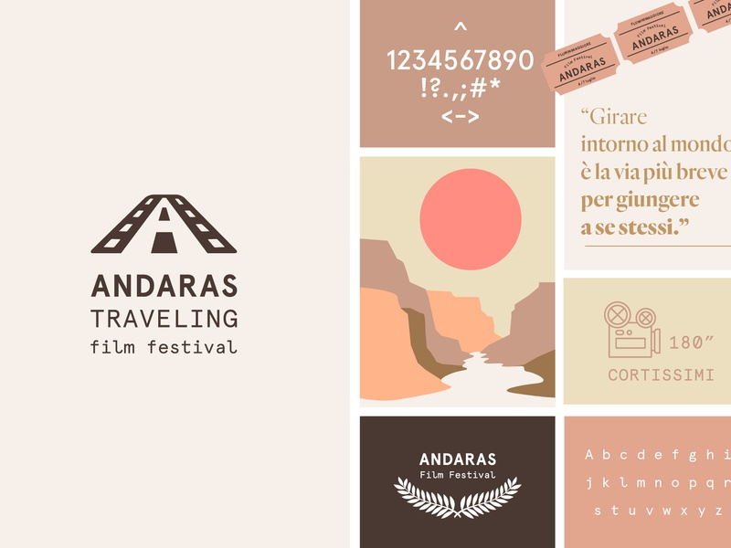 Andaras Traveling Film Festival poster minimal clean graphic design brand vector typography type logo lettering illustrator illustration identity icon flat design branding art