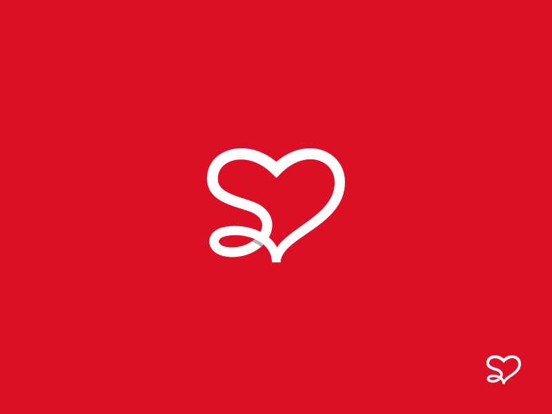 S Heart Logo By Dizzyline On Dribbble