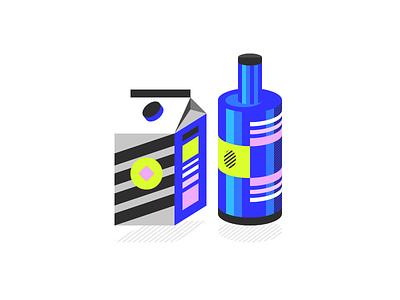 Packaging Illustration dizzyline colorful illustration packaging
