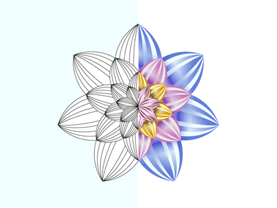 Flower WIP flower logo sacred geometry petals blooming dizzyline