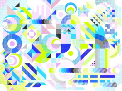 Colorful randomness 1 rythm motive pattern dizzyline abstract random colorful