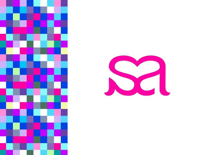 brand creation logo SA monogram design identity Yannick CHARLERY dizzyline