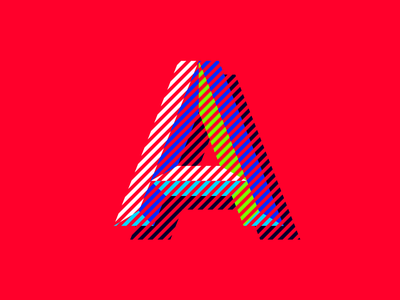 36daysoftype A color interactions dizzyline lines mixing colors color 36daysoftype letter a