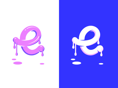36daysoftype e montpellier gum bubble paint fresh dripping metling illustration type typography 36daysoftype