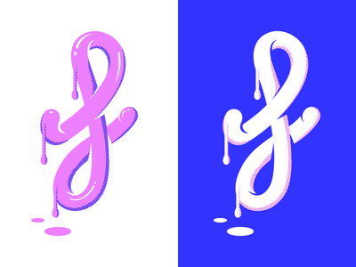 Fresh paint f letter montpellier gum bubble paint fresh dripping metling illustration type typography 36daysoftype