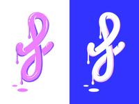 Fresh paint f letter