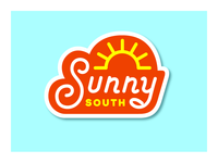 Sunny South Sticker