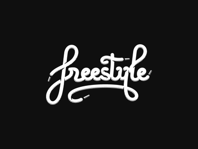 Freestyle typography montpellier illustration dizzyline laces contrast blackandwhite writing letters typography freestyle