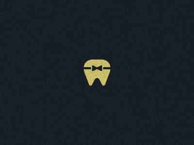 Orthodontics Logo symbol brand simple logo minimal dizzyline bow tie dentist braces orthodontic health teeth tooth