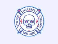 Draw Or Die - Sticker Mule Shot