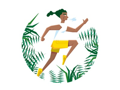 Running In Nature Illustration