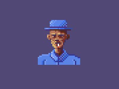 Smoking Old Man gaming videogame character colors pixel art pixel pixelart dizzyline illustration