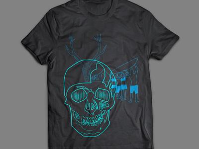 Funky Fab Island Neo Punk shirt mockup fashion nature shuawesome neopunk skulls vancouver island kayaking pnw tshirt