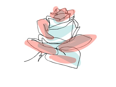 One Continuous Line Rose