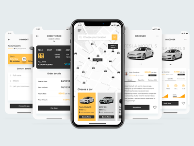 Car Sharing App iphone 10 concept car mobile app mobile ui mobile app design ui ux