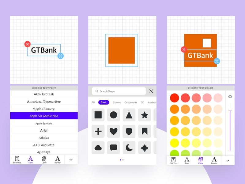Logo Maker Studio Free UI Template logo design studio logo gtbank icon app design concept ui free ui kit ux free download freebie ui design uiux design