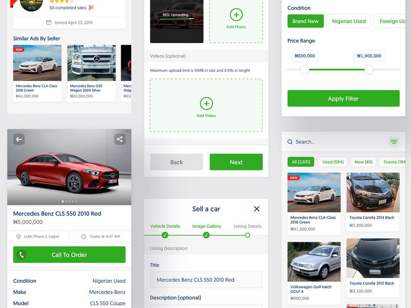 Car Shop free UI Template ui trends ui inspiration ui car icon design concept app ux free download freebie ui design free ui kit uiux design