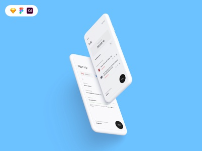 Business to customers UI clean minimal sell sign up business mockup iphone freebie