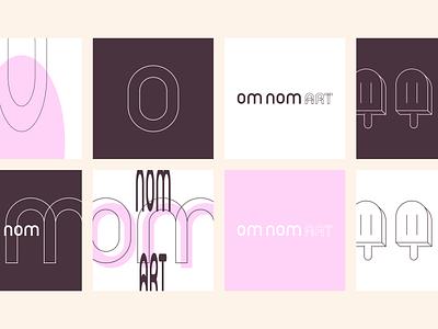 Om Nom Art branding identity logo icon stretched popsicle icecream workinprogress