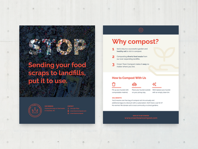 Why compost? flyer marketing layout typography environment poster compost