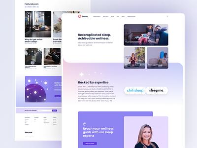 The sleepme homepage gradient soft branding landing page sleep marketing page homepage home web design website web