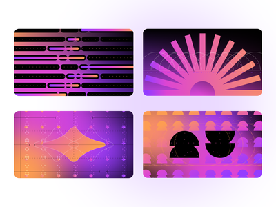Blog post graphics 02 patterns gradient abstract shapes geometric education flat graphic illustration