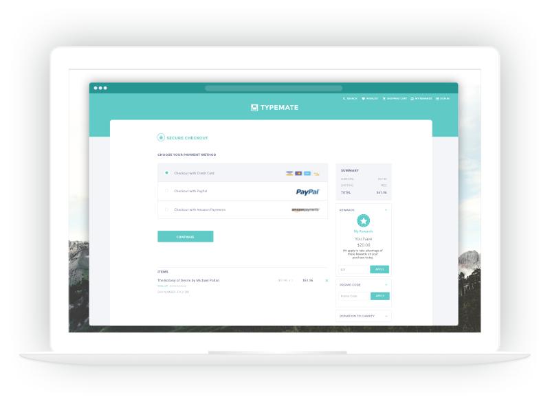 Checkout Flow desktop checkout promo form payment review billing shipping ecomm ecommerce