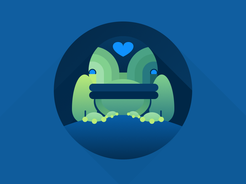 Frog gradient angled shadows graphic icon abstract geometric frog