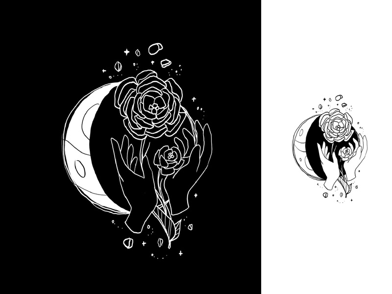 Moon Phases space nature illustration phases drawing white black dark moon