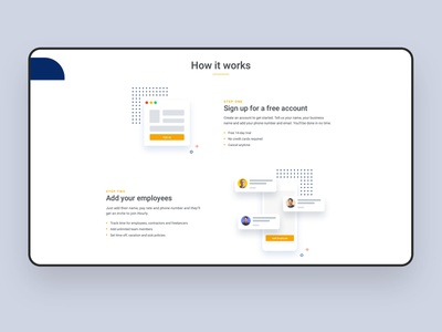 Landing Page Illustrations and layout landingpage layout illustrations time tracking vector interface flat clean minimal ux ui
